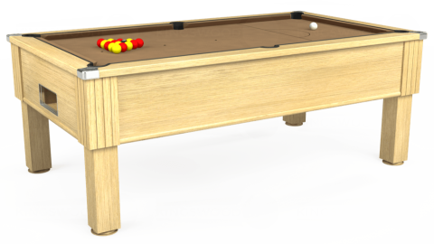 7ft Emirates Free Play in Light Oak with Hainsworth Elite-Pro Camel cloth