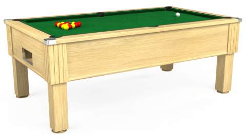 7ft Emirates Free Play in Light Oak with Hainsworth Elite-Pro English Green cloth
