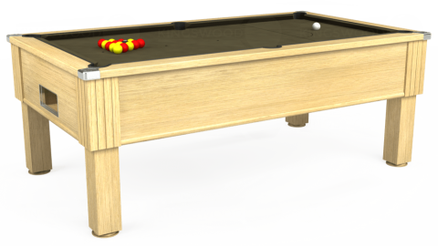 7ft Emirates Free Play in Light Oak with Hainsworth Elite-Pro Olive cloth