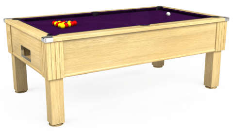 7ft Emirates Free Play in Light Oak with Hainsworth Elite-Pro Purple cloth