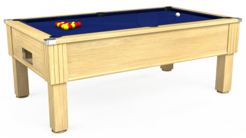 7ft Emirates Free Play in Light Oak with Hainsworth Elite-Pro Royal Blue cloth