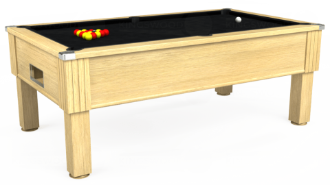 7ft Emirates Free Play in Light Oak with Hainsworth Smart Black cloth
