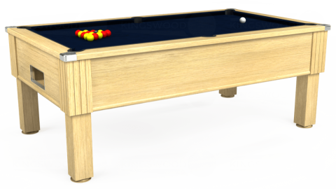 7ft Emirates Free Play in Light Oak with Hainsworth Smart French Navy cloth
