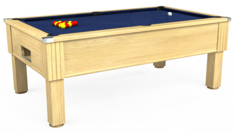 7ft Emirates Free Play in Light Oak with Hainsworth Smart Navy cloth