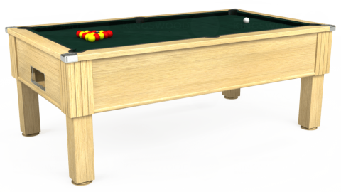 7ft Emirates Free Play in Light Oak with Hainsworth Smart Ranger Green cloth