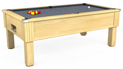 7ft Emirates Free Play in Light Oak with Hainsworth Smart Silver cloth