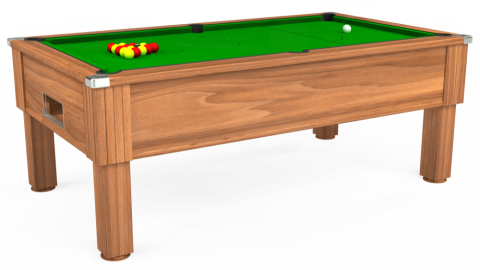 6ft Emirates Free Play in Light Walnut with Standard Green cloth