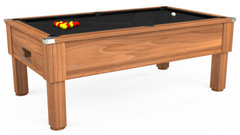 6ft Emirates Free Play in Light Walnut with Hainsworth Elite-Pro Black cloth