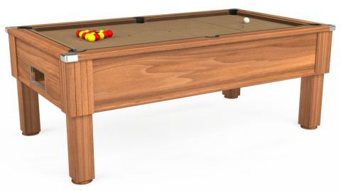 7ft Emirates Free Play in Light Walnut with Hainsworth Elite-Pro Camel cloth