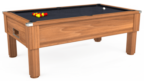 7ft Emirates Free Play in Light Walnut with Hainsworth Elite-Pro Charcoal cloth