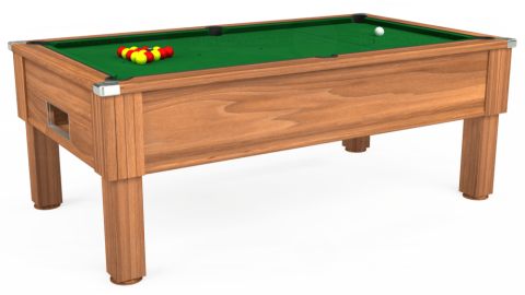 7ft Emirates Free Play in Light Walnut with Hainsworth Elite-Pro English Green cloth