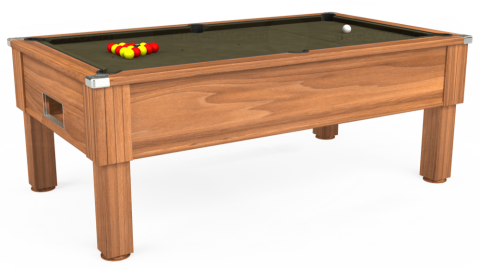7ft Emirates Free Play in Light Walnut with Hainsworth Elite-Pro Olive cloth
