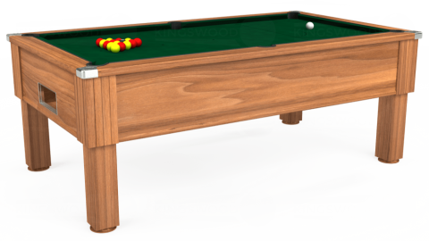 7ft Emirates Free Play in Light Walnut with Hainsworth Elite-Pro Spruce cloth
