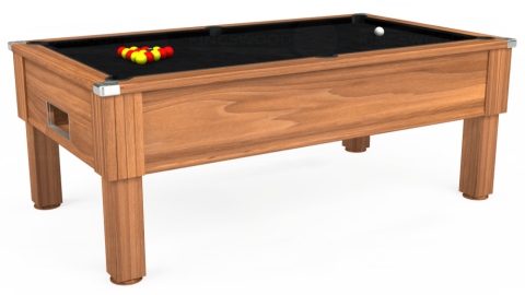 7ft Emirates Free Play in Light Walnut with Hainsworth Smart Black cloth