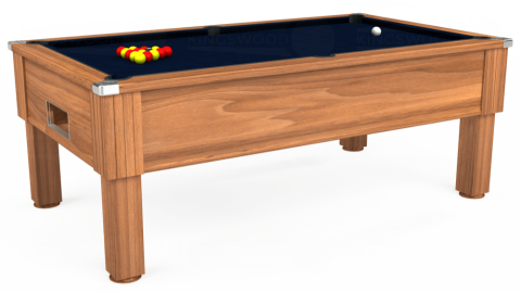 7ft Emirates Free Play in Light Walnut with Hainsworth Smart French Navy cloth