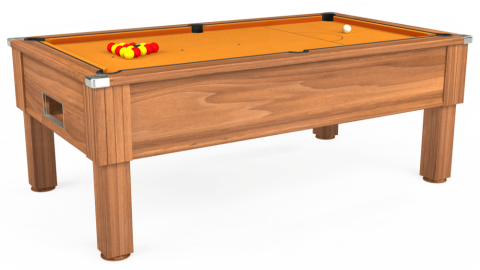 7ft Emirates Free Play in Light Walnut with Hainsworth Smart Gold cloth