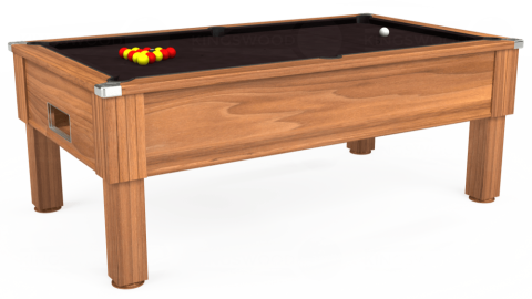 7ft Emirates Free Play in Light Walnut with Hainsworth Smart Nutmeg cloth