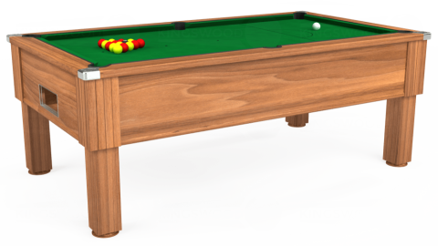 7ft Emirates Free Play in Light Walnut with Hainsworth Smart Olive cloth
