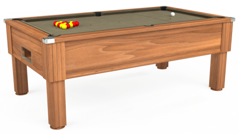 7ft Emirates Free Play in Light Walnut with Hainsworth Smart Taupe cloth