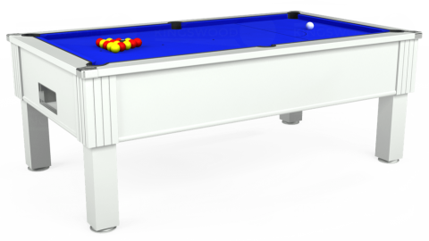 7ft Emirates Free Play in White with Standard Blue cloth