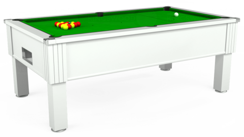 7ft Emirates Free Play in White with Standard Green cloth