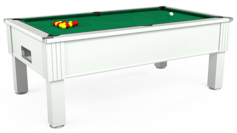 7ft Emirates Free Play in White with Hainsworth Elite-Pro American Green cloth