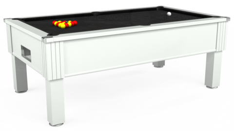 7ft Emirates Free Play in White with Hainsworth Elite-Pro Black cloth