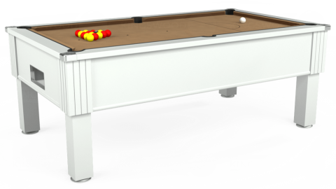 7ft Emirates Free Play in White with Hainsworth Elite-Pro Camel cloth
