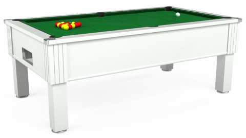 7ft Emirates Free Play in White with Hainsworth Elite-Pro English Green cloth
