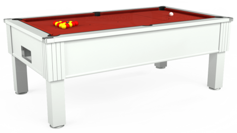 7ft Emirates Free Play in White with Hainsworth Elite-Pro Red cloth