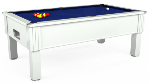 7ft Emirates Free Play in White with Hainsworth Elite-Pro Royal Blue cloth