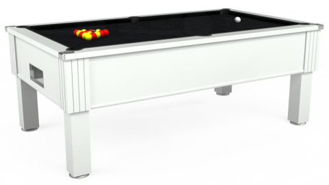 7ft Emirates Free Play in White with Hainsworth Smart Black cloth