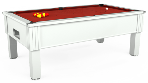 7ft Emirates Free Play in White with Hainsworth Smart Cherry cloth