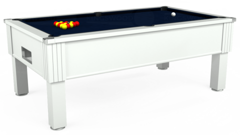 7ft Emirates Free Play in White with Hainsworth Smart French Navy cloth