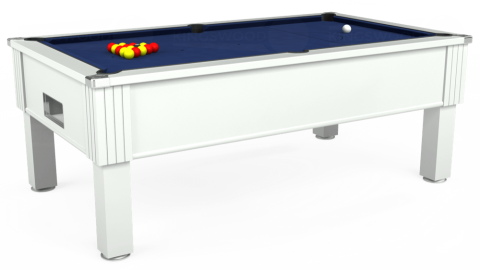 7ft Emirates Free Play in White with Hainsworth Smart Navy cloth