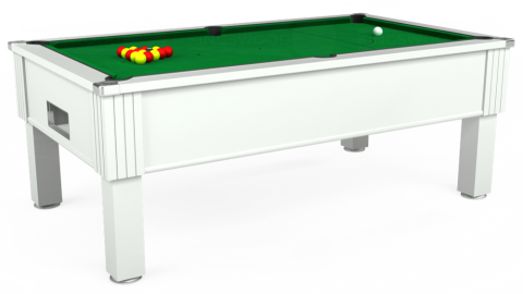 7ft Emirates Free Play in White with Hainsworth Smart Olive cloth