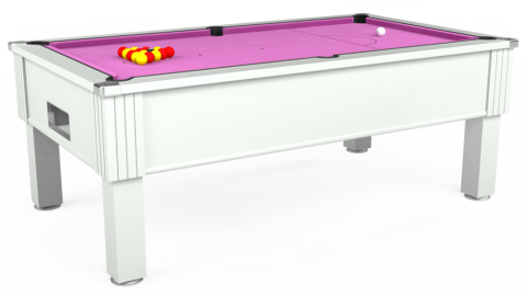 7ft Emirates Free Play in White with Hainsworth Smart Pink cloth