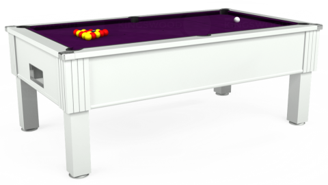 7ft Emirates Free Play in White with Hainsworth Smart Purple cloth