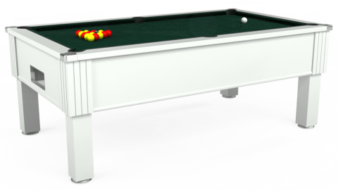 7ft Emirates Free Play in White with Hainsworth Smart Ranger Green cloth