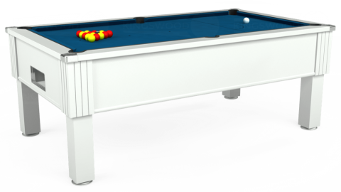 7ft Emirates Free Play in White with Hainsworth Smart Slate cloth