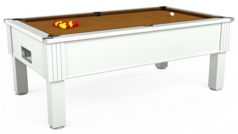 7ft Emirates Free Play in White with Hainsworth Smart Tan cloth