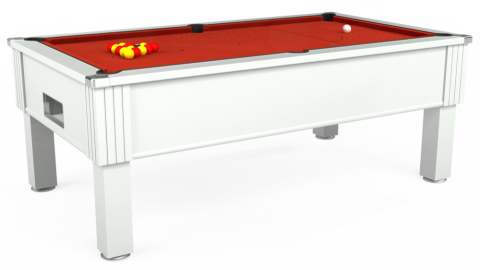 7ft Emirates Free Play in White with Hainsworth Smart Windsor Red cloth