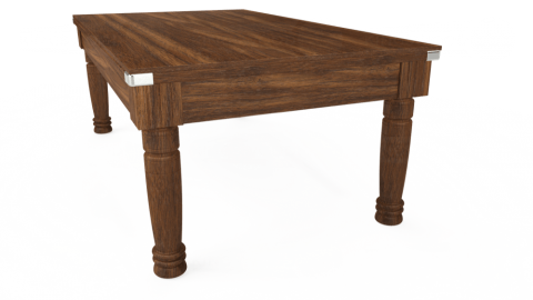 7ft Majestic Dining in Dark Walnut with Hainsworth Smart Silver cloth