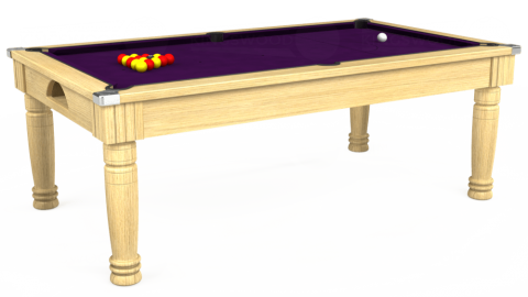 6ft Majestic Dining in Light Oak with Hainsworth Elite-Pro Purple cloth