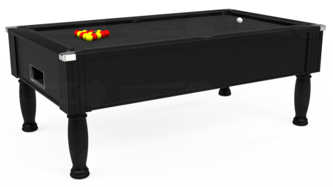 7ft Monarch Free Play in Black with Standard Black cloth