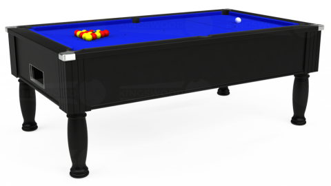 7ft Monarch Free Play in Black with Standard Blue cloth