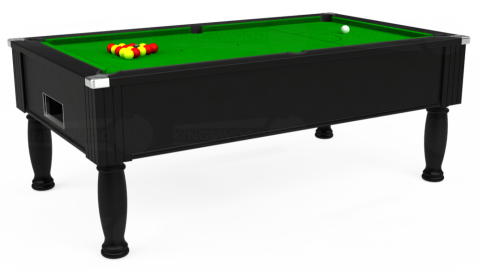 7ft Monarch Free Play in Black with Standard Green cloth