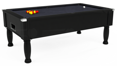 7ft Monarch Free Play in Black with Hainsworth Elite-Pro Charcoal cloth