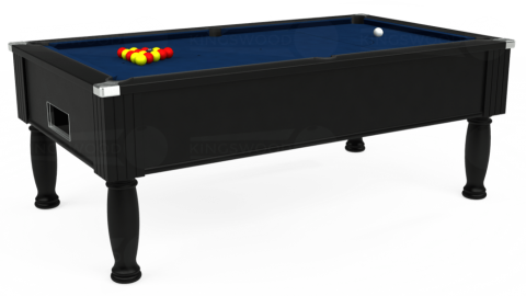 7ft Monarch Free Play in Black with Hainsworth Elite-Pro Marine Blue cloth