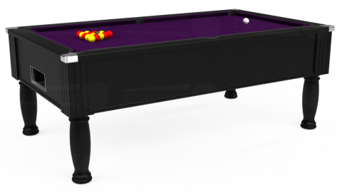 7ft Monarch Free Play in Black with Hainsworth Elite-Pro Purple cloth